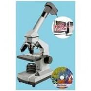 Microscopio biologico monocular Bresser Microset 40x-1024x