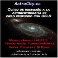 Curso Iniciación astrofotografía cielo profundo. 13 julio 2013