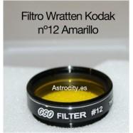 Filtro amarillo 12 Wratten Kodak GSO