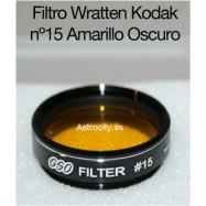 Filtro amarillo oscuro 15 Wratten Kodak GSO