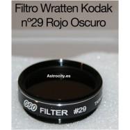 Filtro 29 rojo oscuro wratten kodak GSO