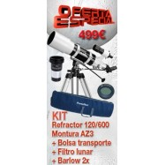 Oferta Kit 120/600 AZ3+Bolsa+barlow2X+filtro