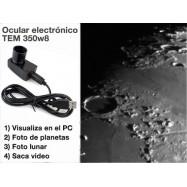 Ocular electrónico TEM-350w8 visual y foto planetaria