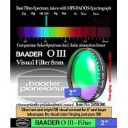 """Filtro OIII visual 2"""" 10nm Baader para nebulosas emisión"""