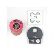 "Kit Cámara ASI1600 MM-P refrigerada + rueda porta-filtros EFW + Set 4 filtros LRGB 1,25"""