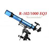 Telescopio Refractor Pentaflex 102/1000 Sobre montura EQ3