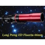 Tubo óptico Long Perng Fluorita 66mm/400mm ED-Apocromático OTA