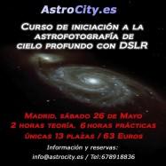 III Convocatoria curso astrofotografía de cielo profundo con DSLR