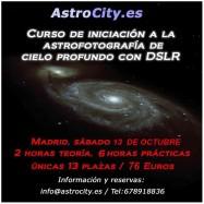 """IV Convocatoria curso """"Iniciación a la astrofotografía de cielo profundo con DSLR"""""""