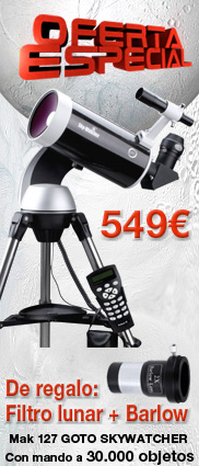 Oferta Telescopio Mak 127 goto skywatcher